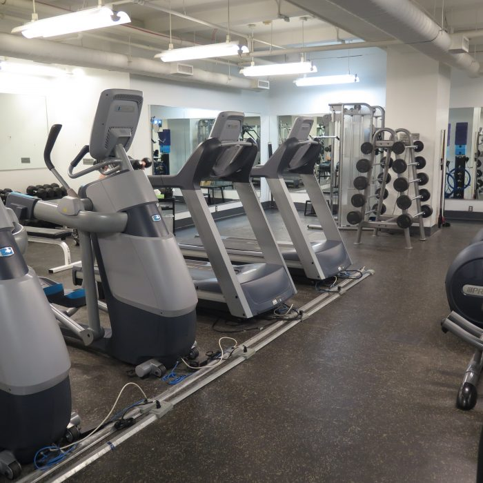 Fitness machines in gym