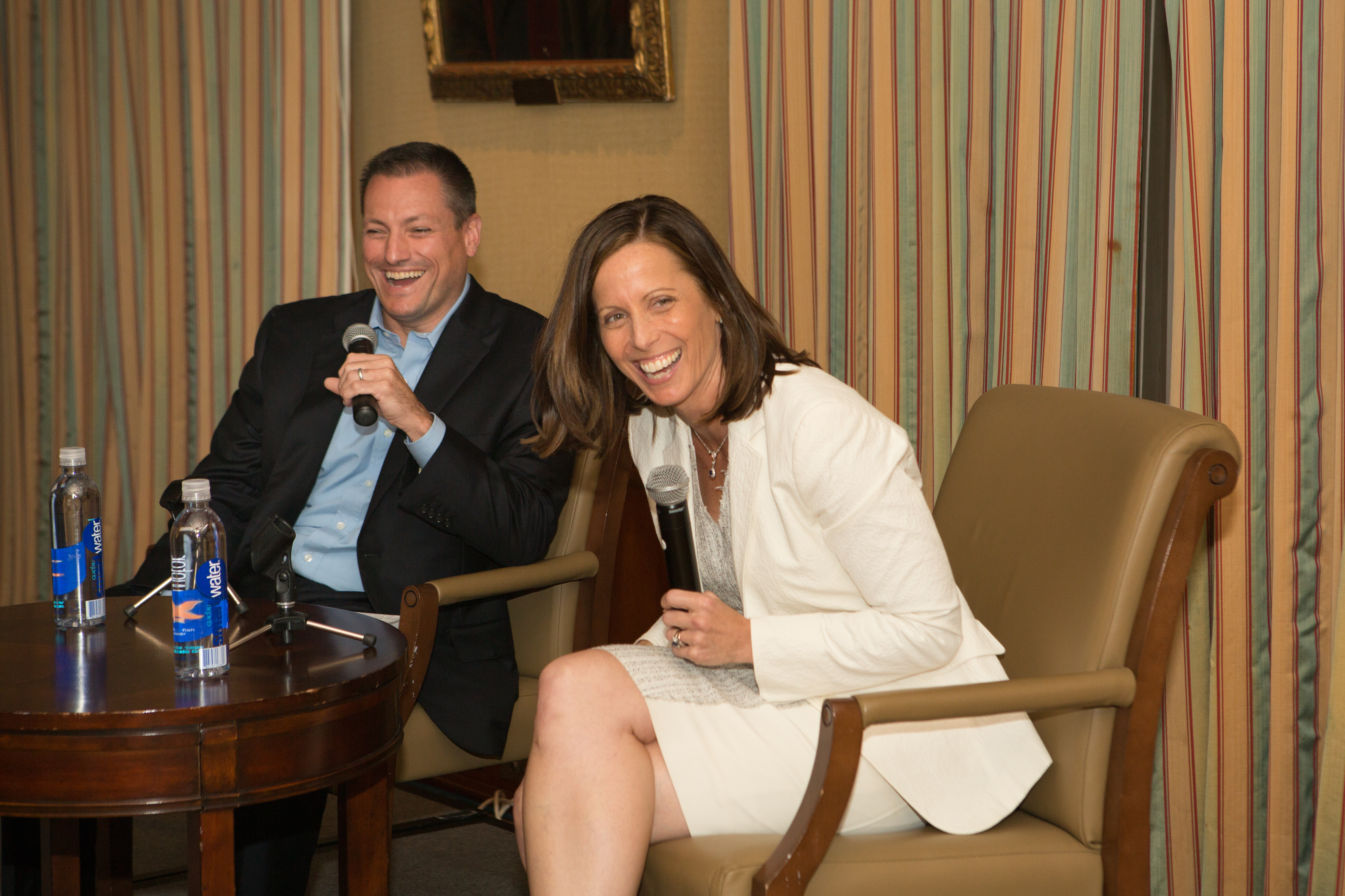 President of the Williams Club, Tom Morgan '91 & President/CEO of NASDAQ, Adena Friedman '91
