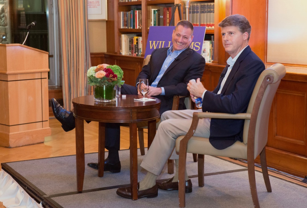 President of the Williams Club, Tom Morgan '91 (left) & Owner of the NY Yankees, Hal Steinbrenner '91 (right)