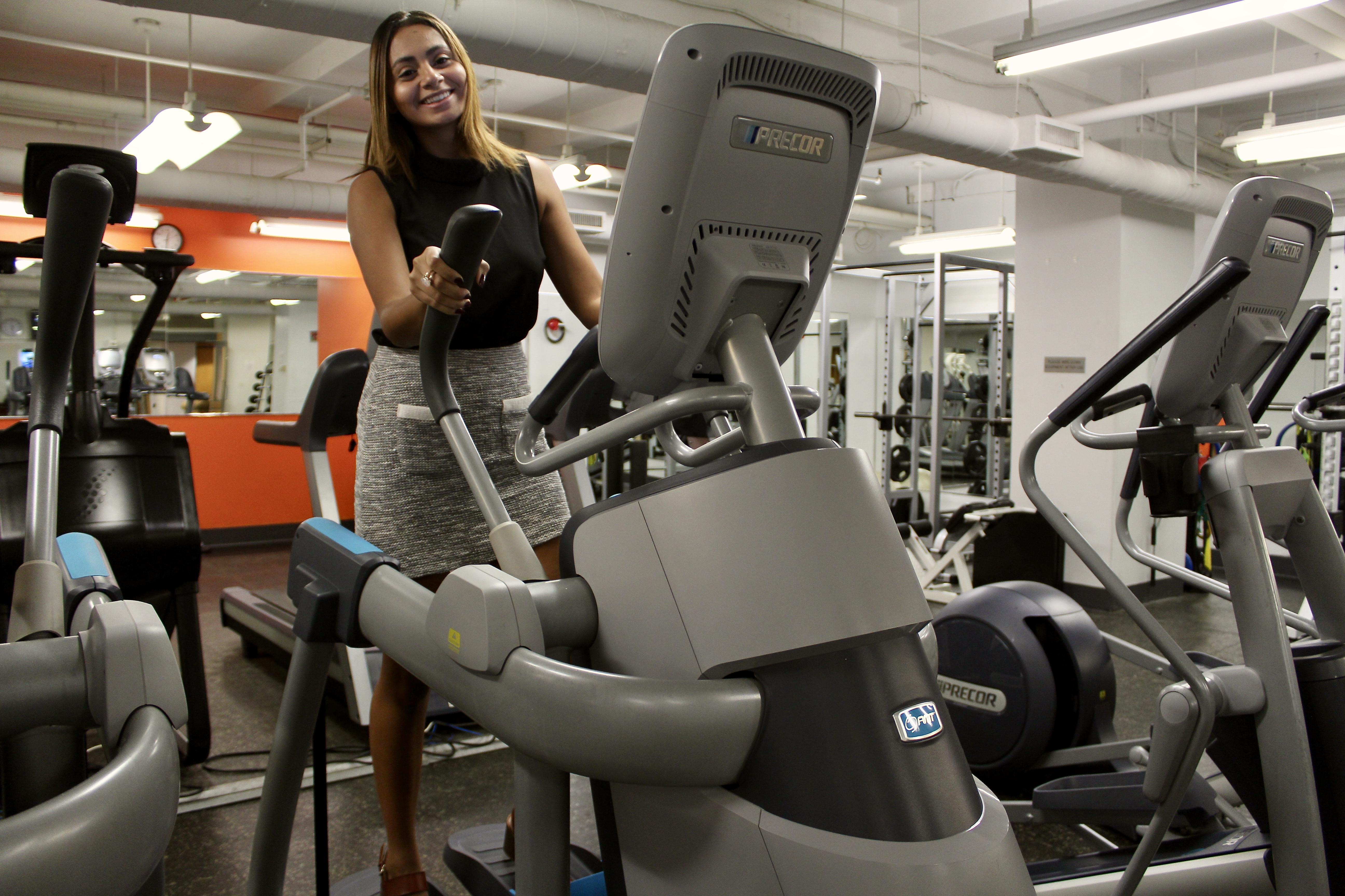 Priscilla Mercado on treadmill